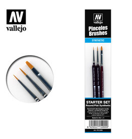 Vallejo Vallejo Brush Set - Synthetic Toray Starter Set