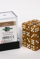 ADC Blackfire Dice cube 12mm - Marbled Light Brown (36)