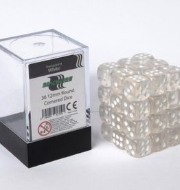 ADC Blackfire Dice cube 12mm - Transparent White (36)