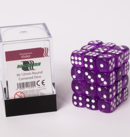 ADC Blackfire Dice cube 12mm - Transparent Violet (36)