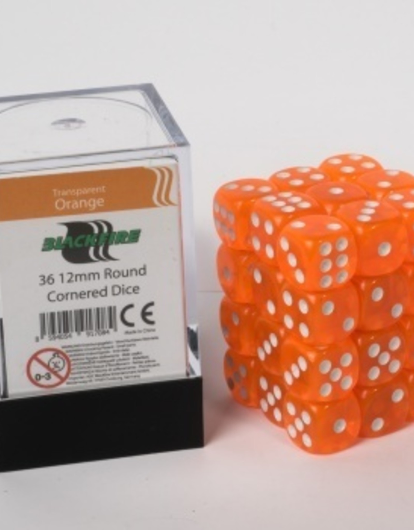 ADC Blackfire Dice cube 12mm - Transparent Orange (36)