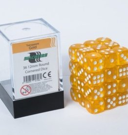 ADC Blackfire Dice cube 12mm - Transparent Gold (36)