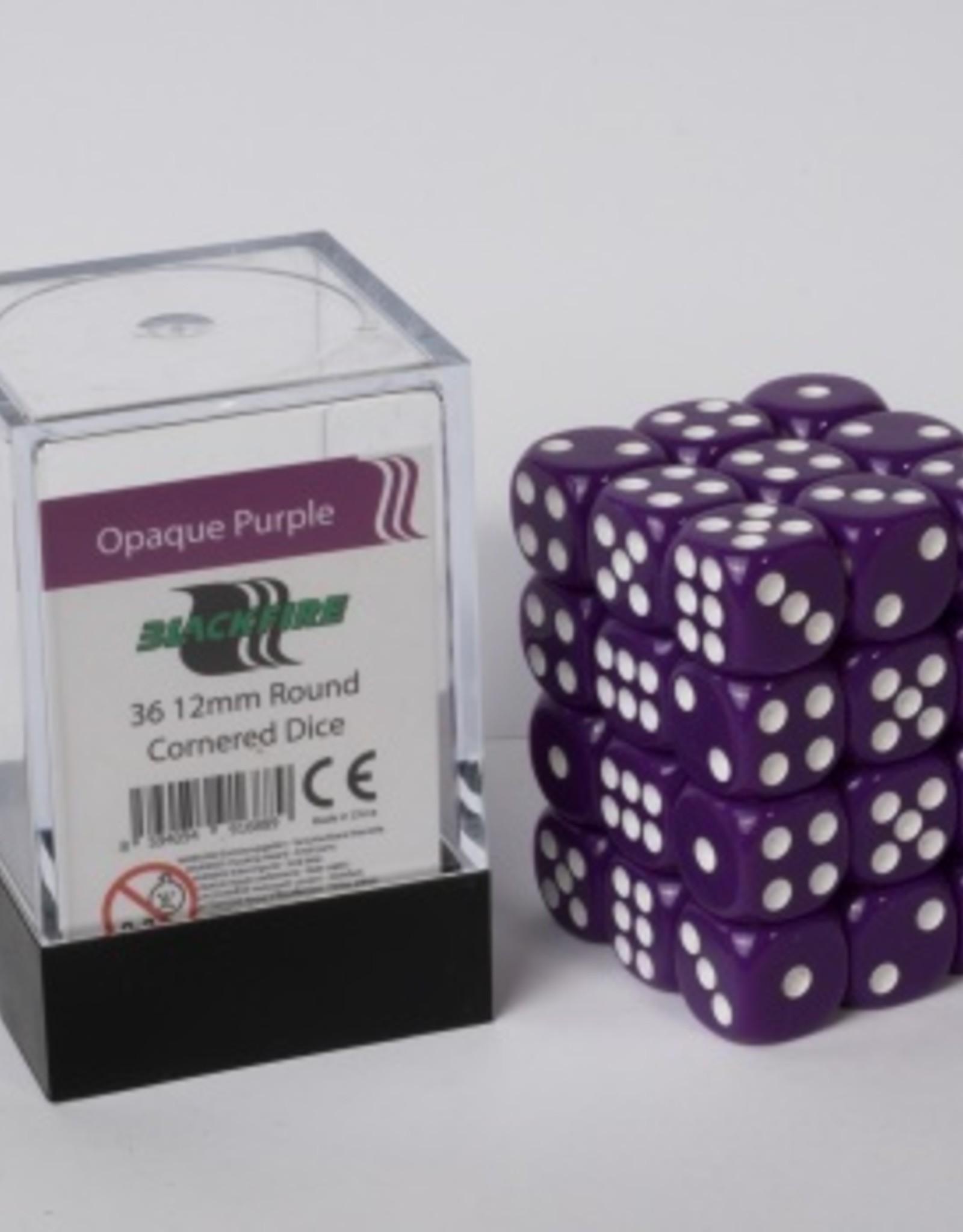 ADC Blackfire Dice cube 12mm - Opaque Purple (36)