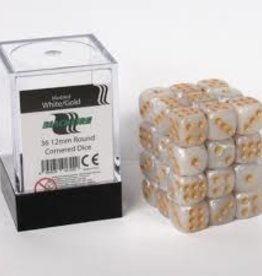 ADC Blackfire Dice cube 12mm - Marbled White Gold (36)