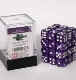 ADC Blackfire Dice cube 12mm - Marbled Purple/White (36)
