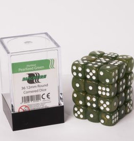 ADC Blackfire Dice cube 12mm - Marbled Pearlized Green (36)