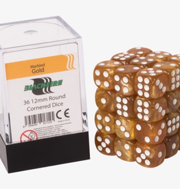ADC Blackfire Dice cube 12mm - Marbled Gold (36)