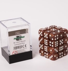ADC Blackfire Dice cube 12mm - Marbled Coffee (36)