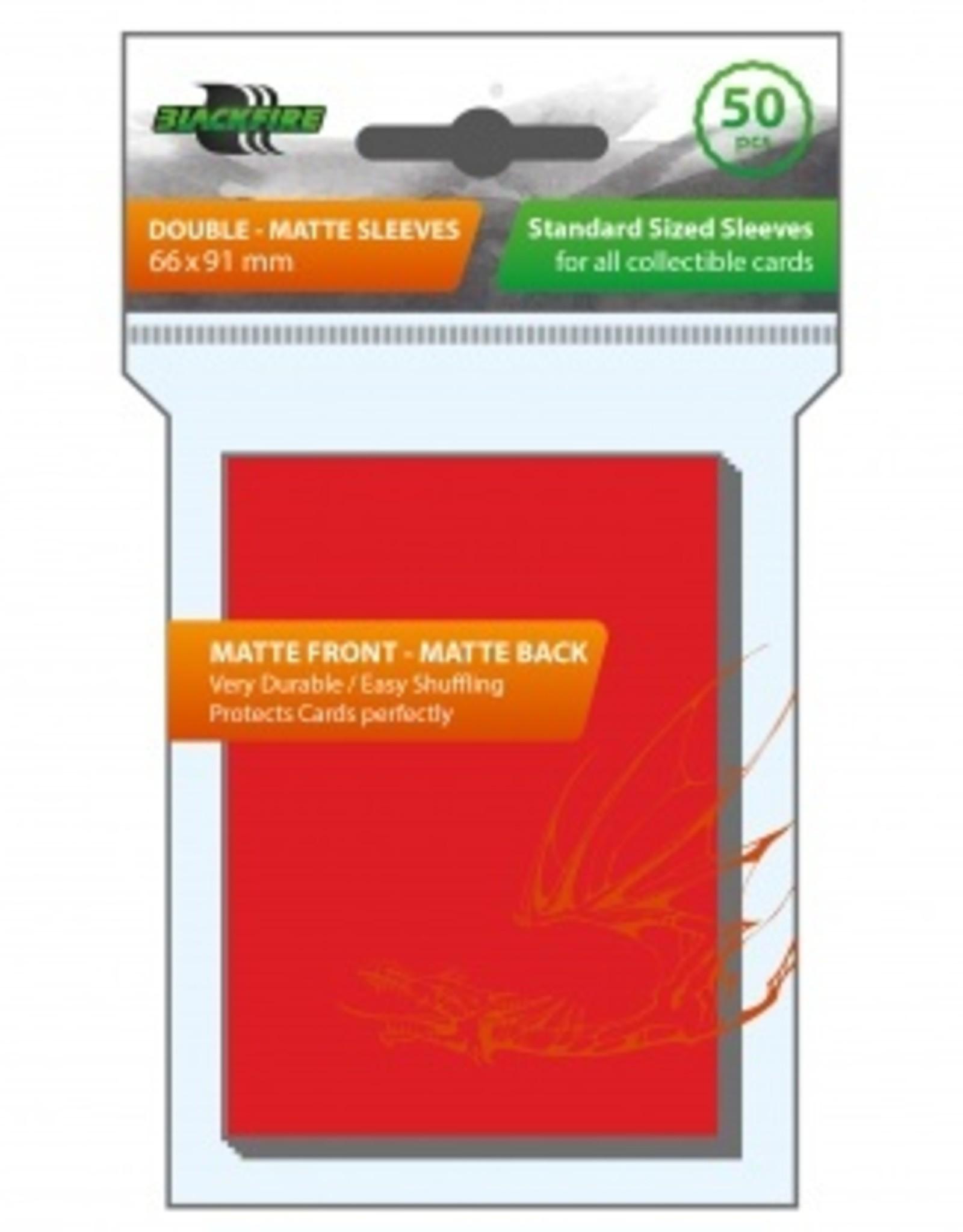 ADC Blackfire Blackfire Sleeves Standard Double Matte Red (50) (66x91mm)