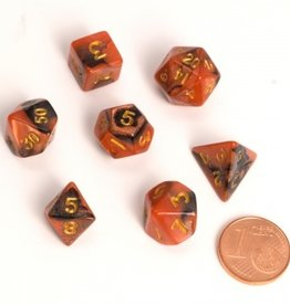 ADC Blackfire Fairy Dice Set Black and Orange (mini poly dice set)