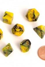 ADC Blackfire Fairy Dice Set Yellow and Black (mini poly dice set)
