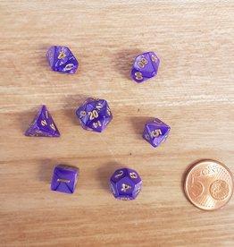 ADC Blackfire Fairy Dice Set Marbled Purple (mini poly dice set)