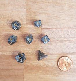 ADC Blackfire Fairy Dice Set Marbled Black (mini poly dice set)