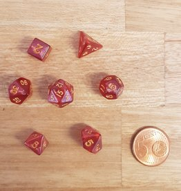 ADC Blackfire Fairy Dice Set Marbled Red (mini poly dice set)