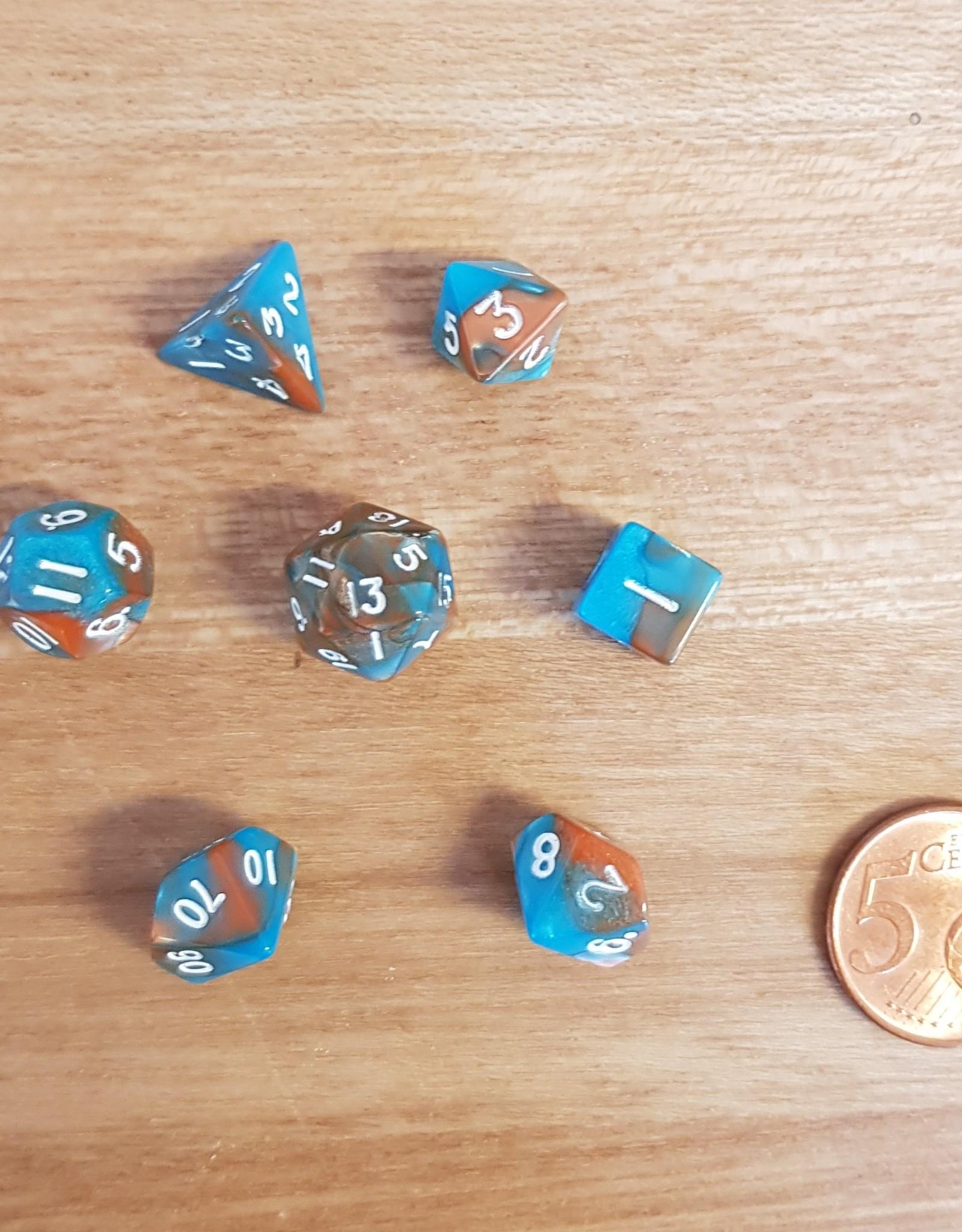 ADC Blackfire Fairy Dice Set Orange and Blue (mini poly dice set)