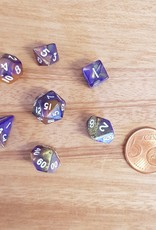 ADC Blackfire Fairy Dice Set Yellow and Purple (mini poly dice set)