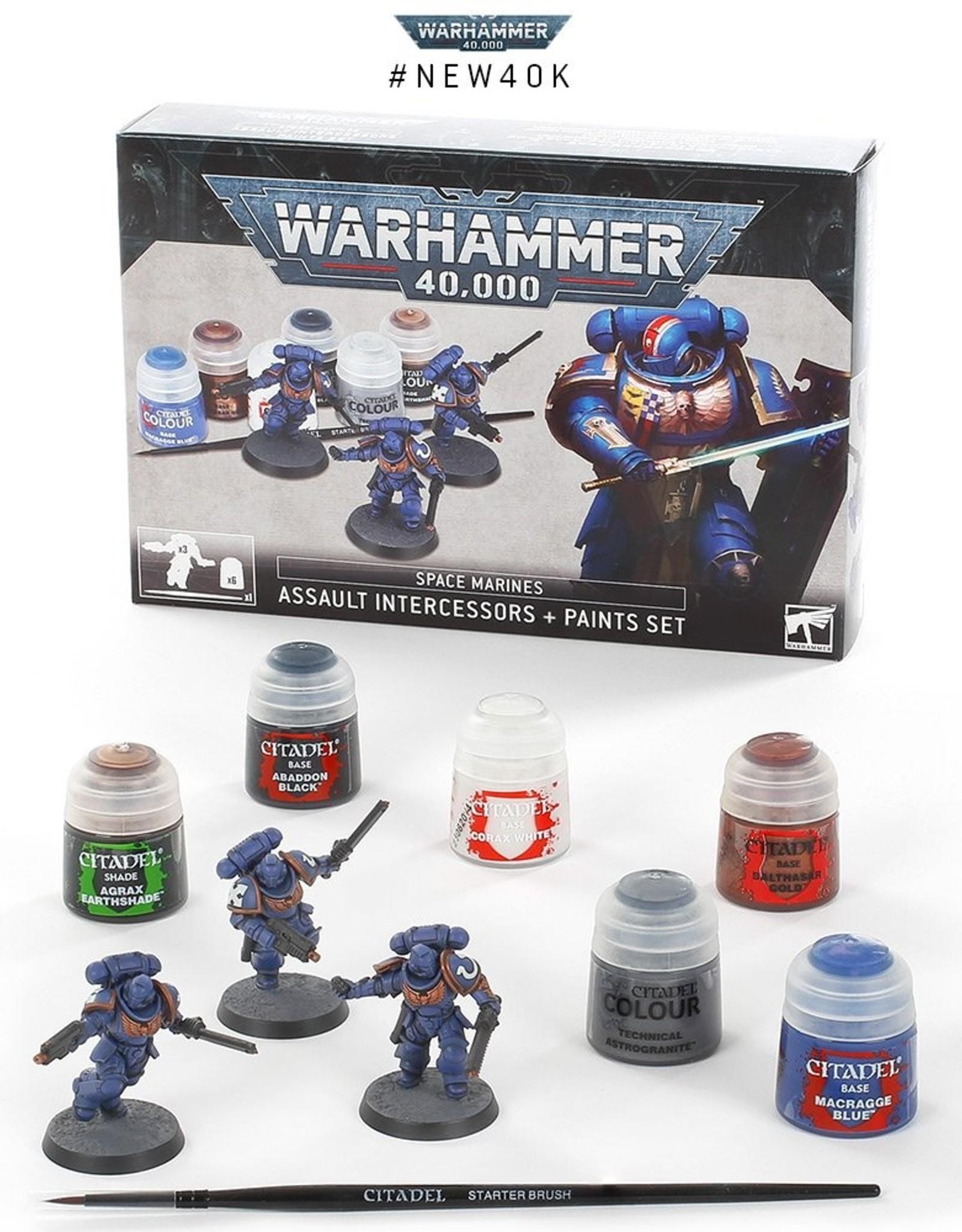 Games Workshop Space Marines Assault Intercessors Paint Set