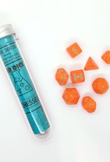 Chessex Chessex 8-Die set Lab Dice Heavy Orange/Turquoise