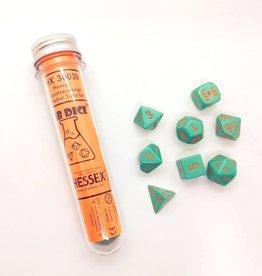 Chessex Chessex 8-Die set Lab Dice Heavy Turquoise/Orange