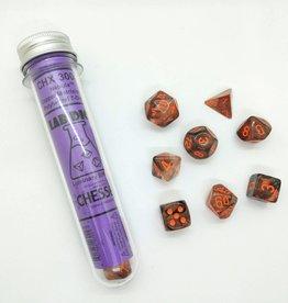 Chessex Chessex 8-Die set Lab Dice Nebula Copper Matrix/Orange