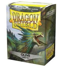 Dragonshield Dragonshield 100 Box Sleeves Matte Olive