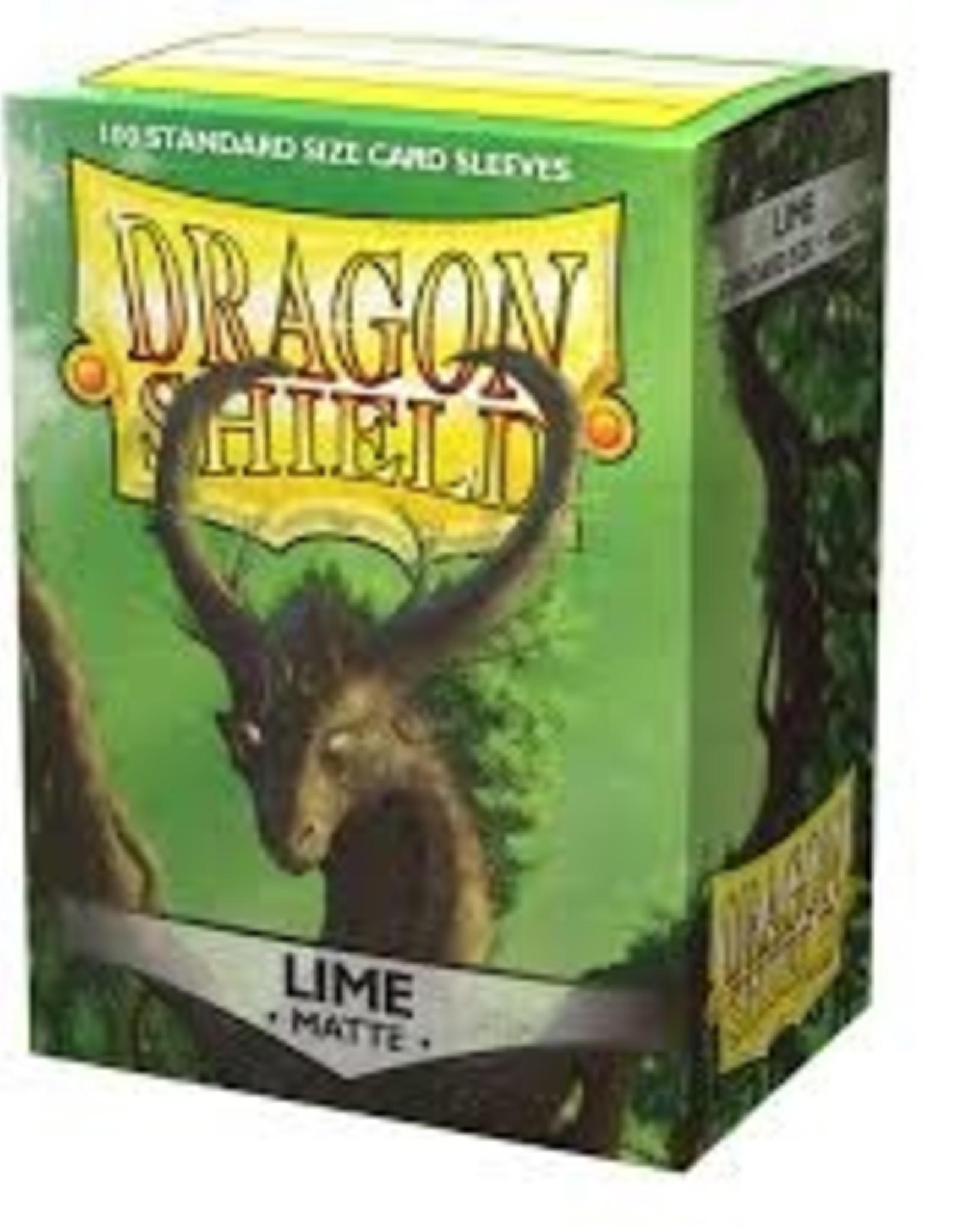 Dragonshield Dragonshield 100 Box Sleeves Matte Lime