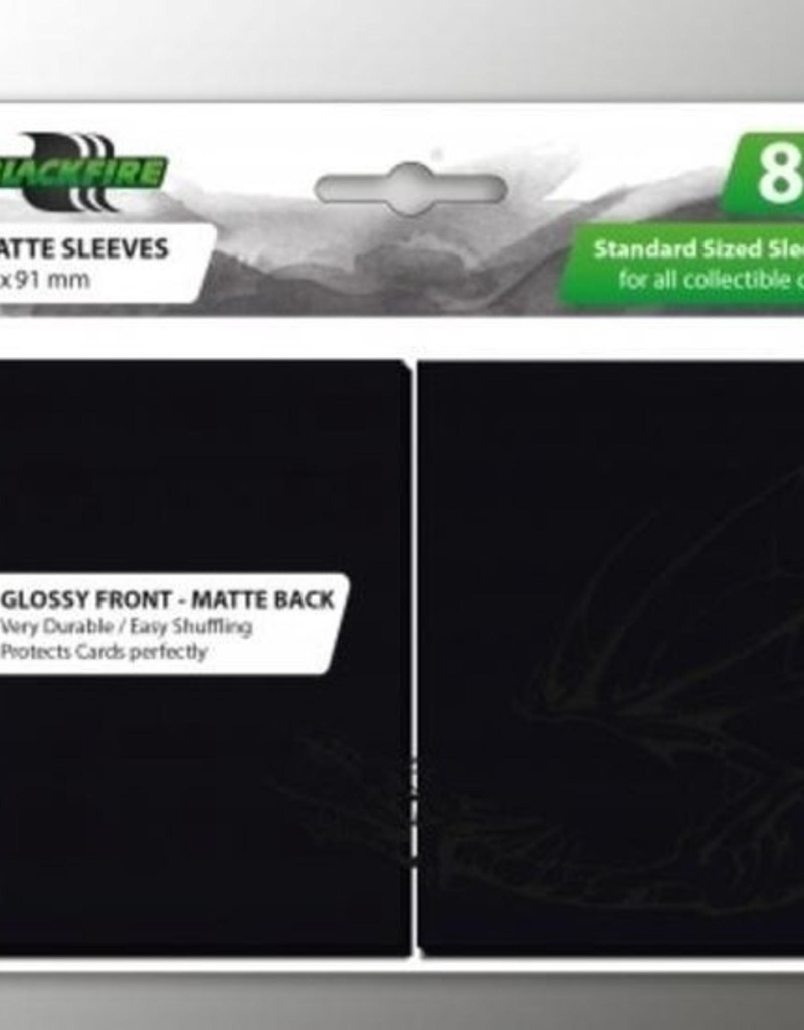 ADC Blackfire Blackfire Sleeves Standard Glossy Front Matte Back Black (80) (66x91mm)