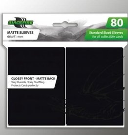 ADC Blackfire Blackfire Sleeves Standard Glossy Front Matte Back Black (80) (66x91mm)