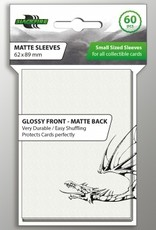 ADC Blackfire Blackfire Sleeves Small Glossy Front Matte Back White (60) (62x89mm)