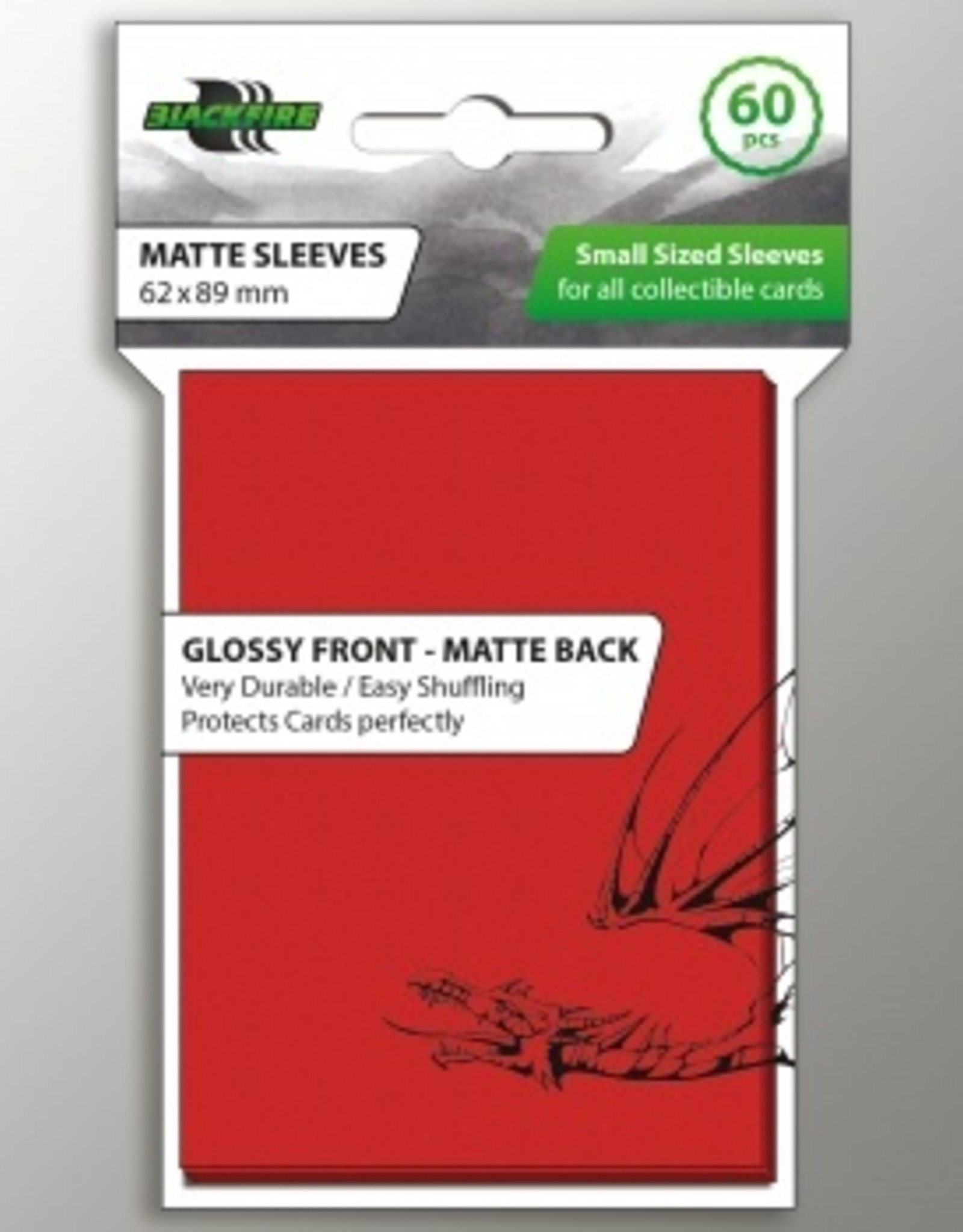 ADC Blackfire Blackfire Sleeves Small Glossy Front Matte Back Red (60) (62x89mm)