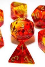 Chessex Chessex 7-Die set Lab Dice Translucent Red Yellow/Gold