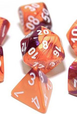 Chessex Chessex 7-Die set Lab Dice Gemini Orange Purple/Pink