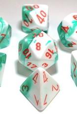 Chessex Chessex 7-Die set Lab Dice Gemini Green/White