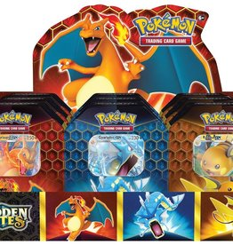 Pokemon USA POK Hidden Fates: Set van 3 Tins (reprint pre-order)