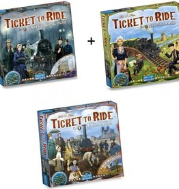 Days of Wonder Ticket to Ride Combi-Deal: Nederland, France, UK