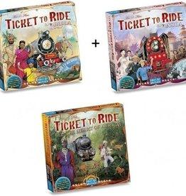 Days of Wonder Ticket to Ride Deal: Africa, Asia, India (NL/EN/DE/FR/SP/IT)