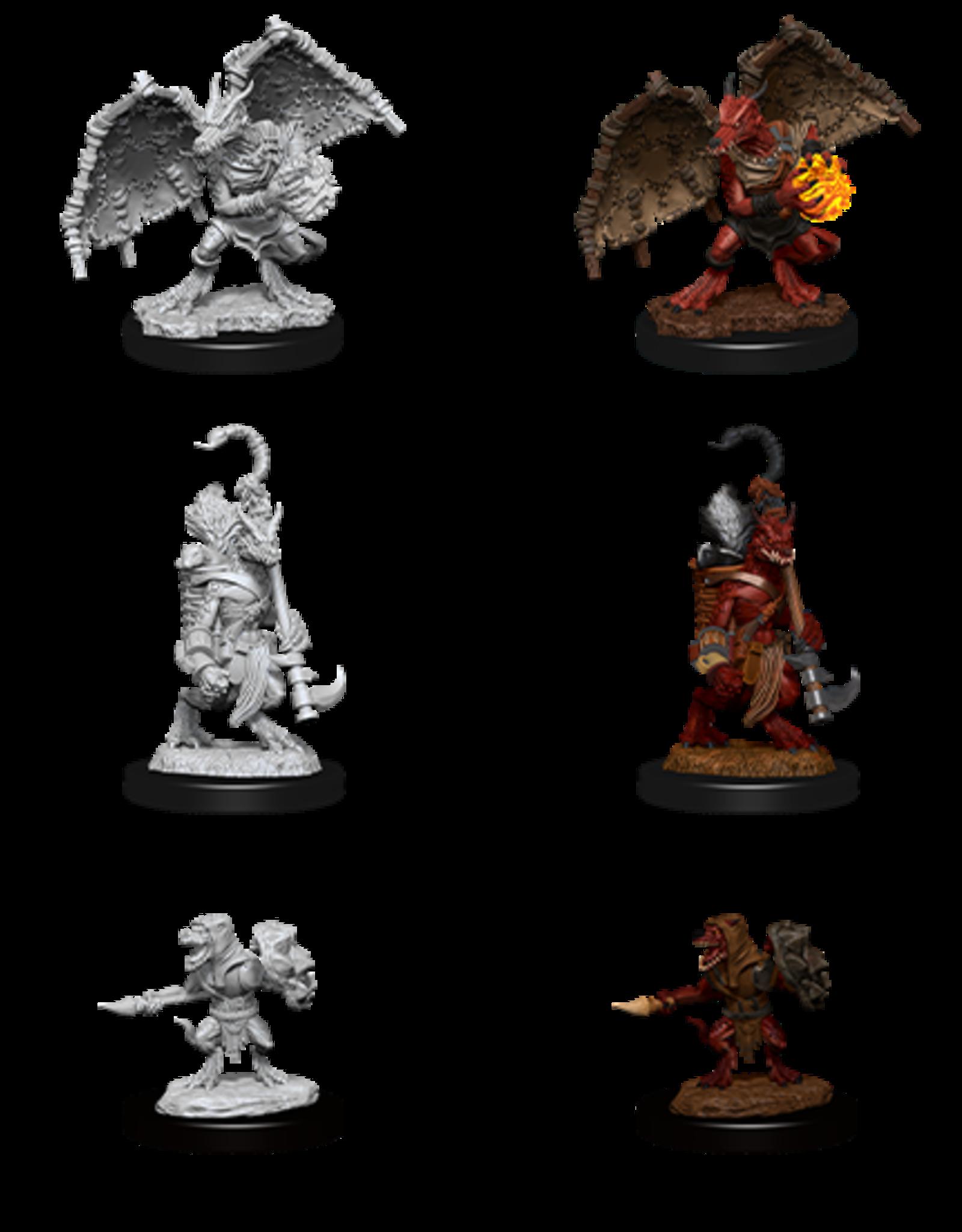 Wizkids D&D Nolzur's Marvelous Miniatures Kobold Inventor, Dragonshield and Sorcerer