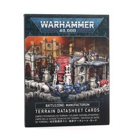 Games Workshop Battlezone Manufactorum:  Terrain Datasheet Cards