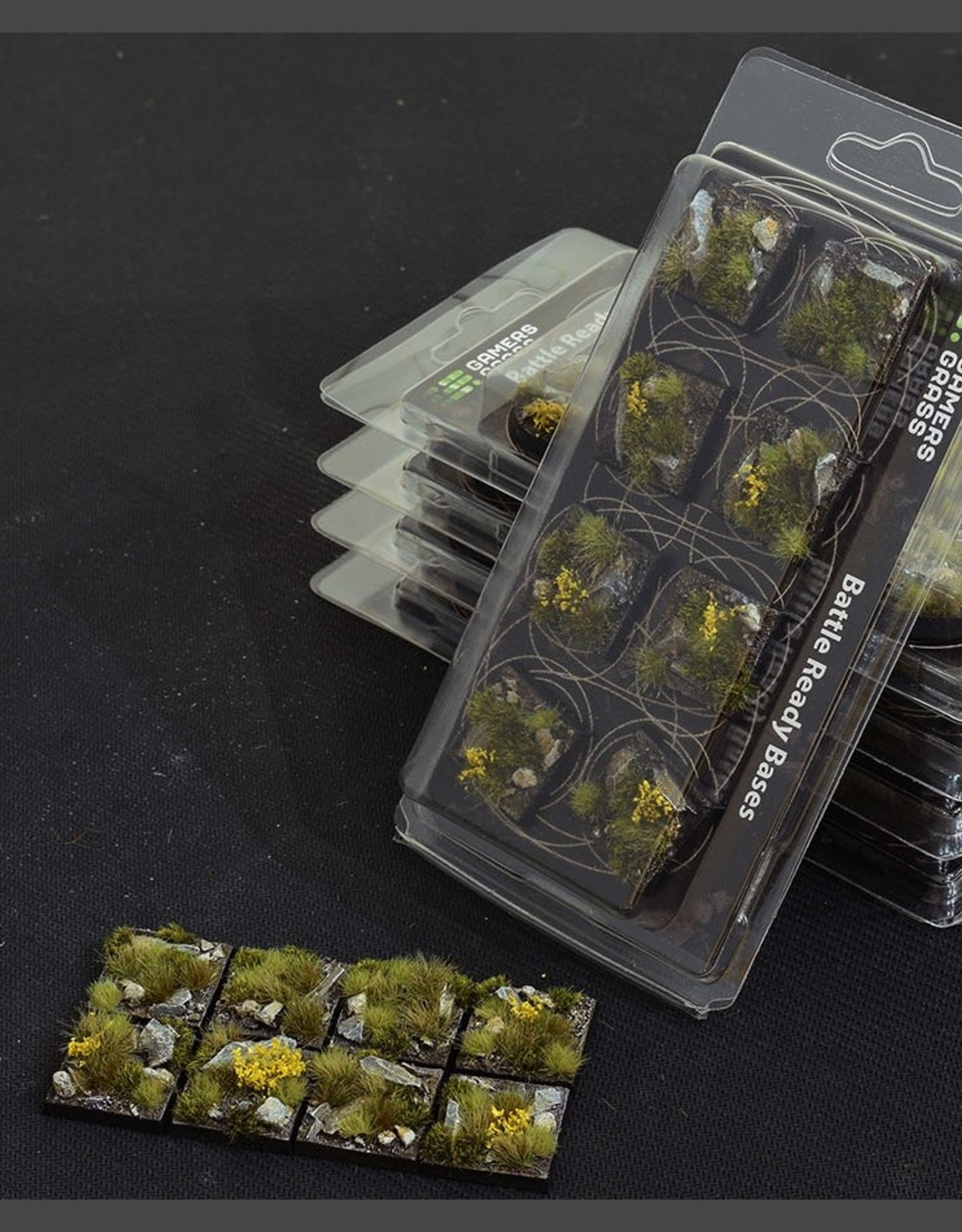Gamers Grass Highland Bases Pre-Painted (8x 25mm Square)