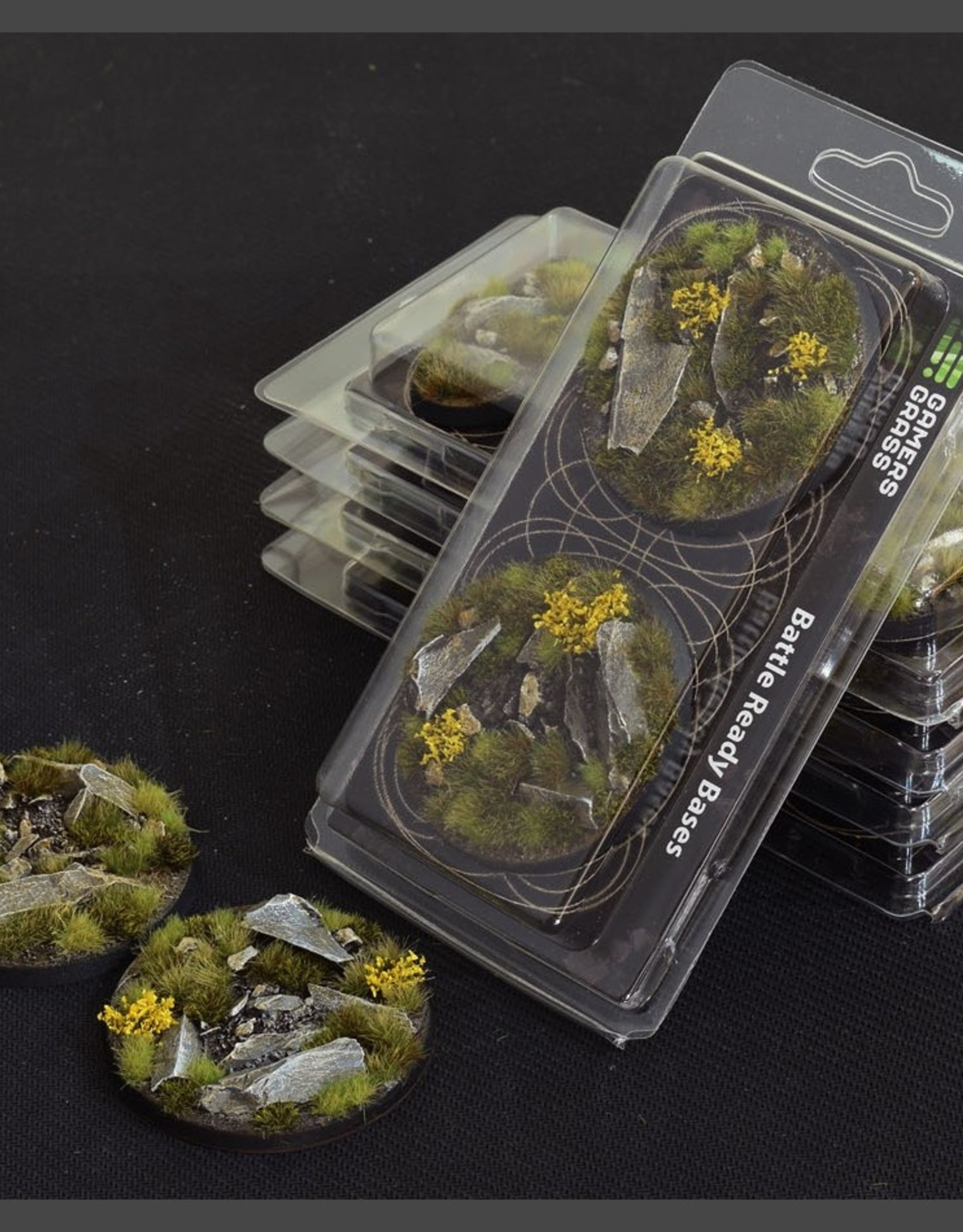 Gamers Grass Highland Bases Pre-Painted (2x 60mm Round)