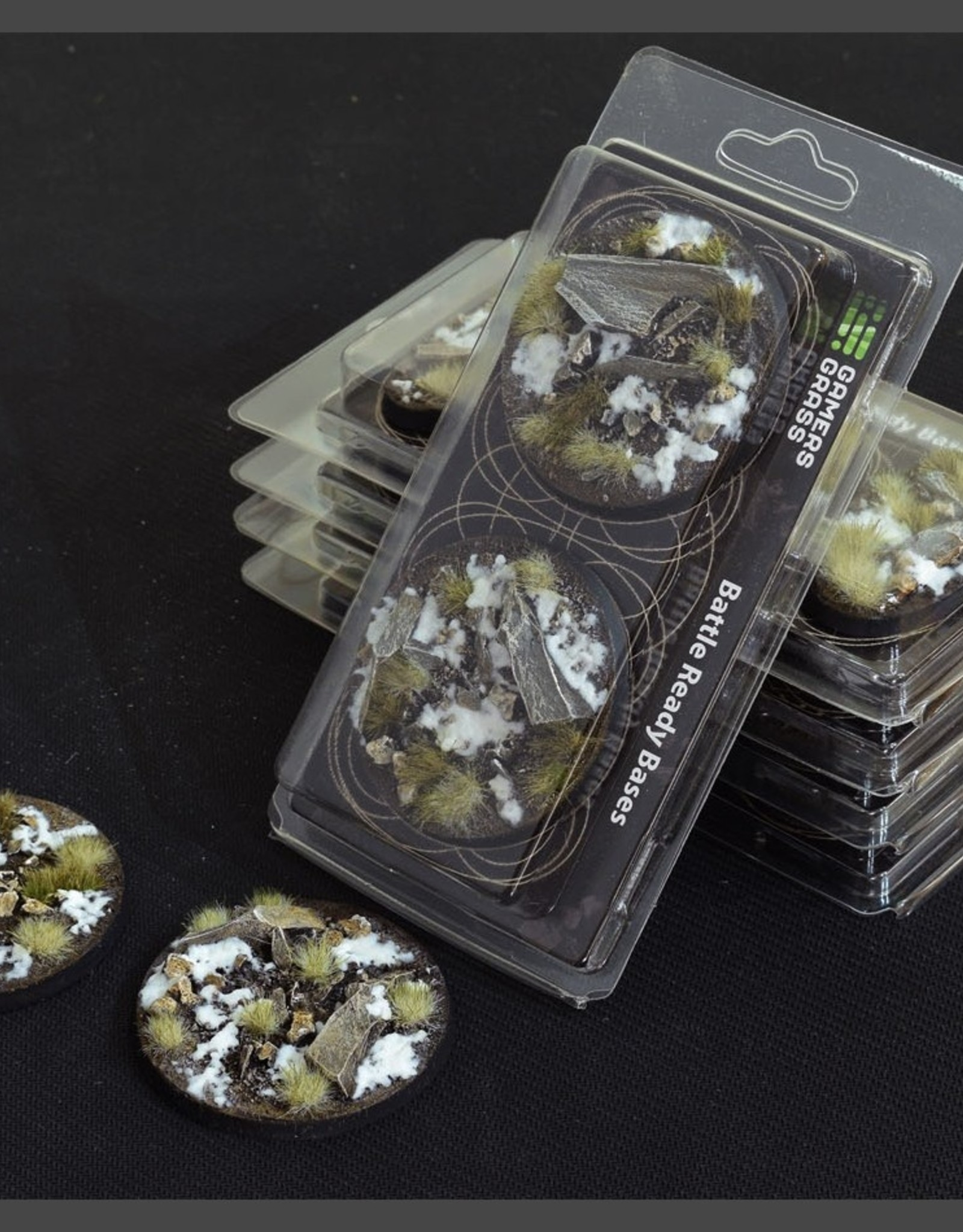 Gamers Grass Winter Bases Pre-Painted (2x 60mm Round)