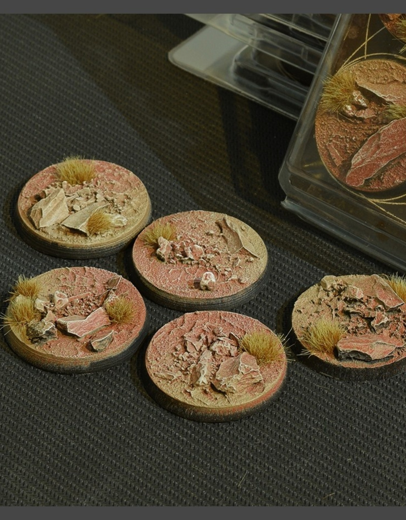 Gamers Grass Badlands Bases Pre-Painted (5x 40mm Round)
