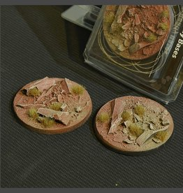 Gamers Grass Badlands Bases Pre-Painted (2x 60mm Round)