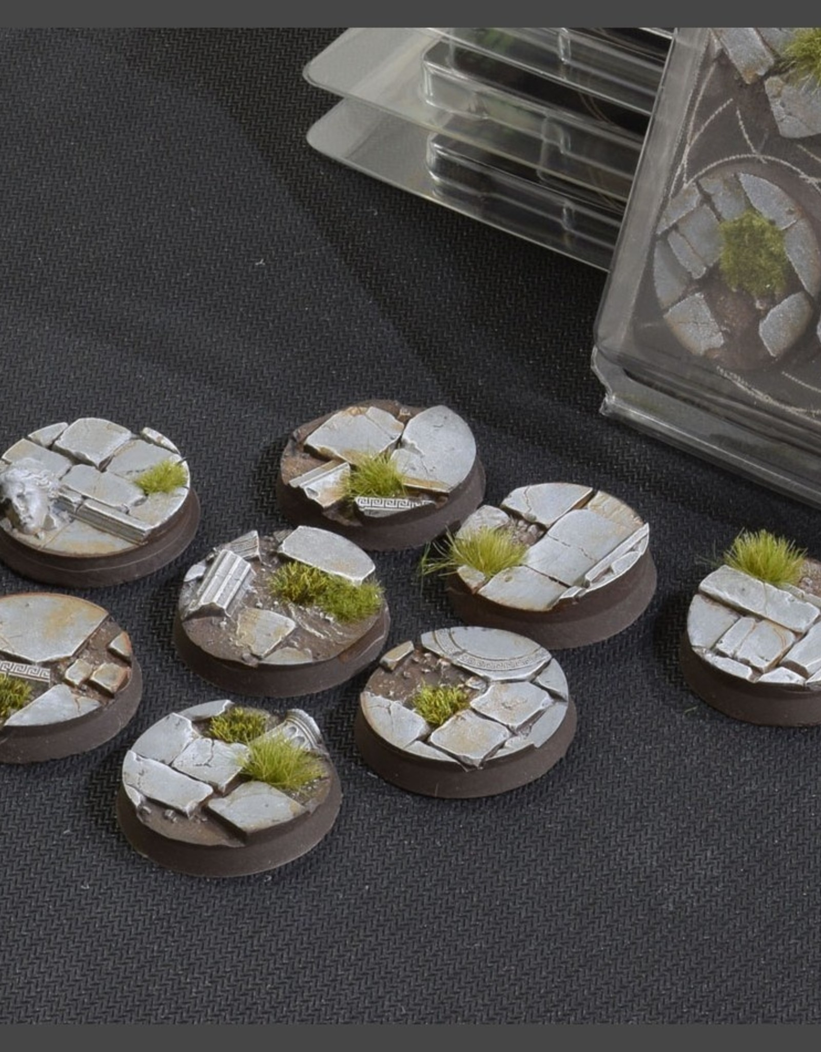 Gamers Grass Temple Bases Pre-Painted (8x 32mm Round)