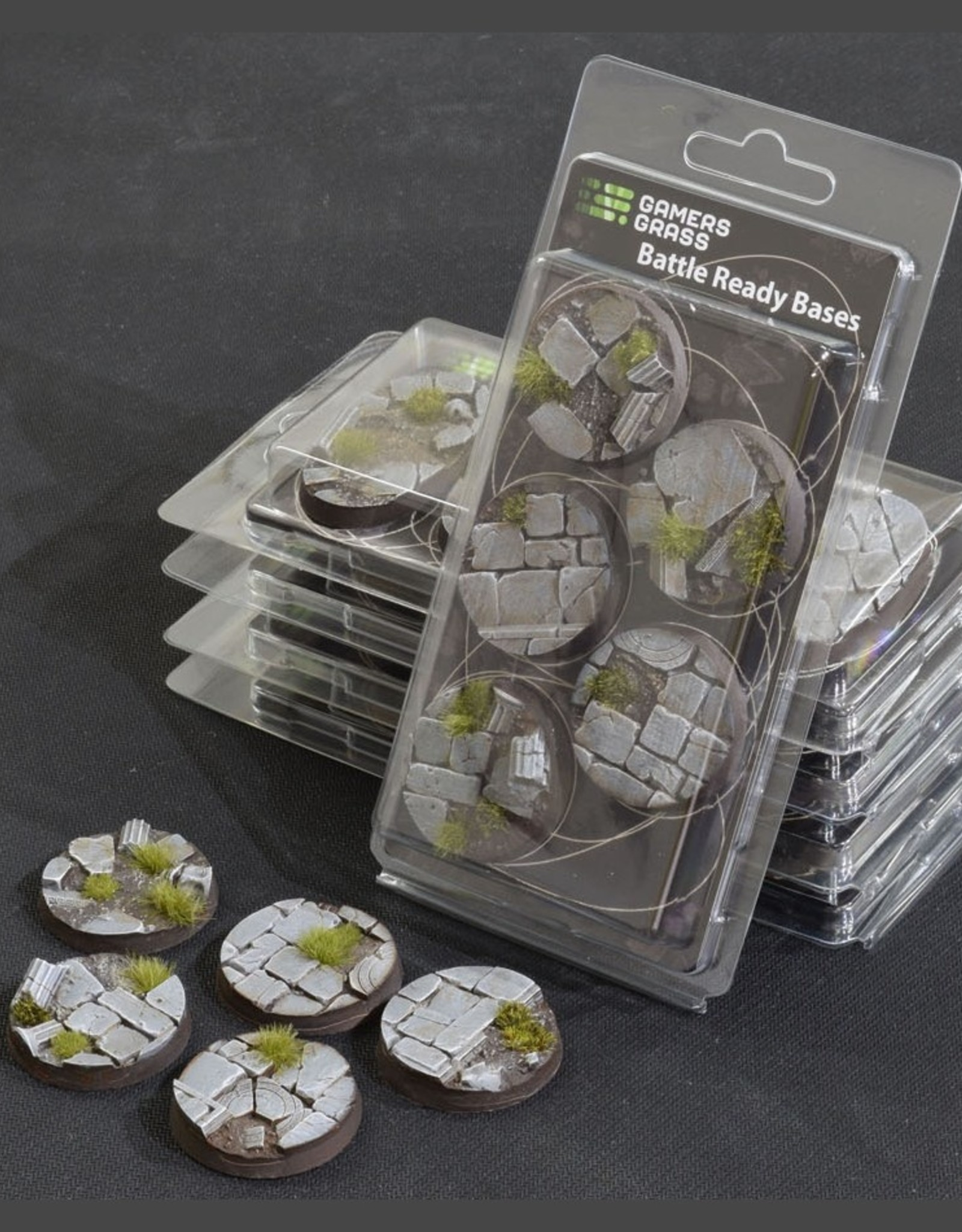Gamers Grass Temple Bases Pre-Painted (5x 40mm Round)