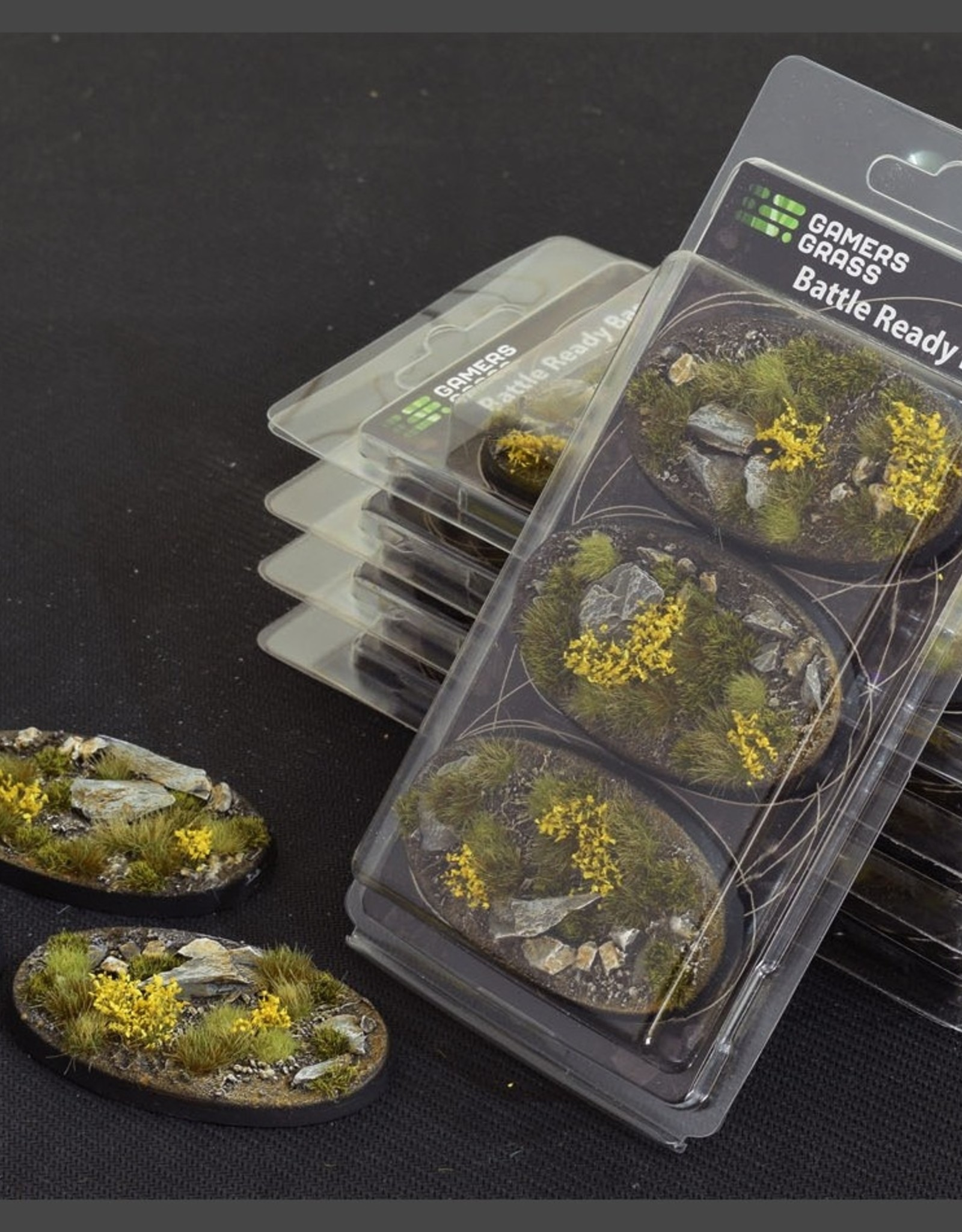 Gamers Grass Highland Bases Pre-Painted (3x 75mm Oval)