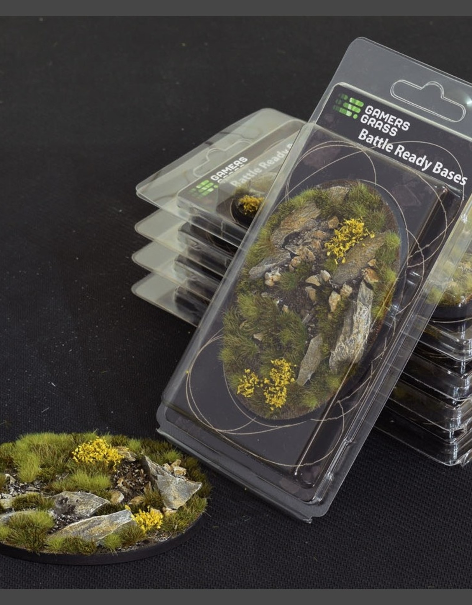 Gamers Grass Highland Bases Pre-Painted (1x 105mm Oval)