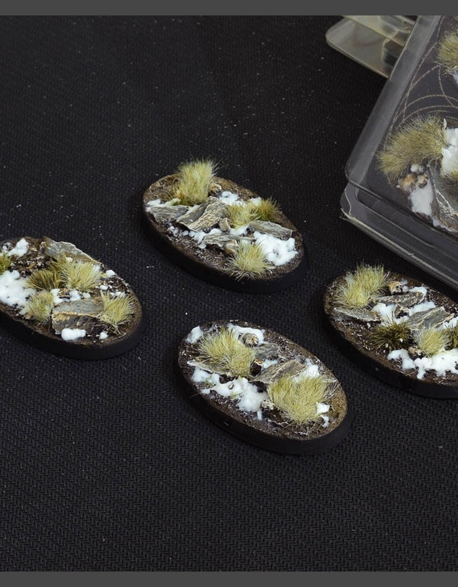 Gamers Grass Winter Bases Pre-Painted (4x 60mm Oval)