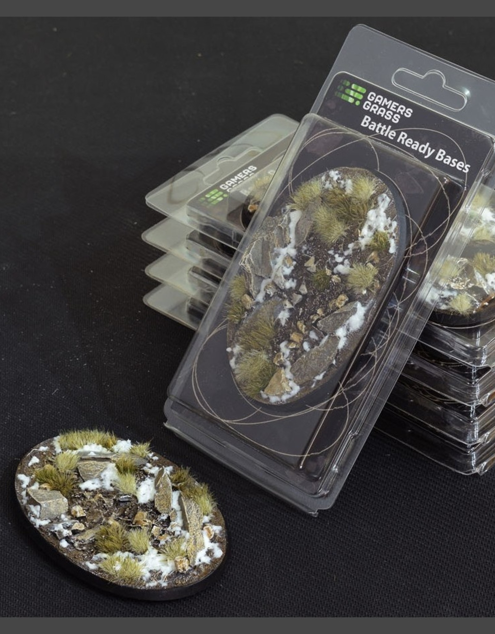 Gamers Grass Winter Bases Pre-Painted (1x 105mm Oval)