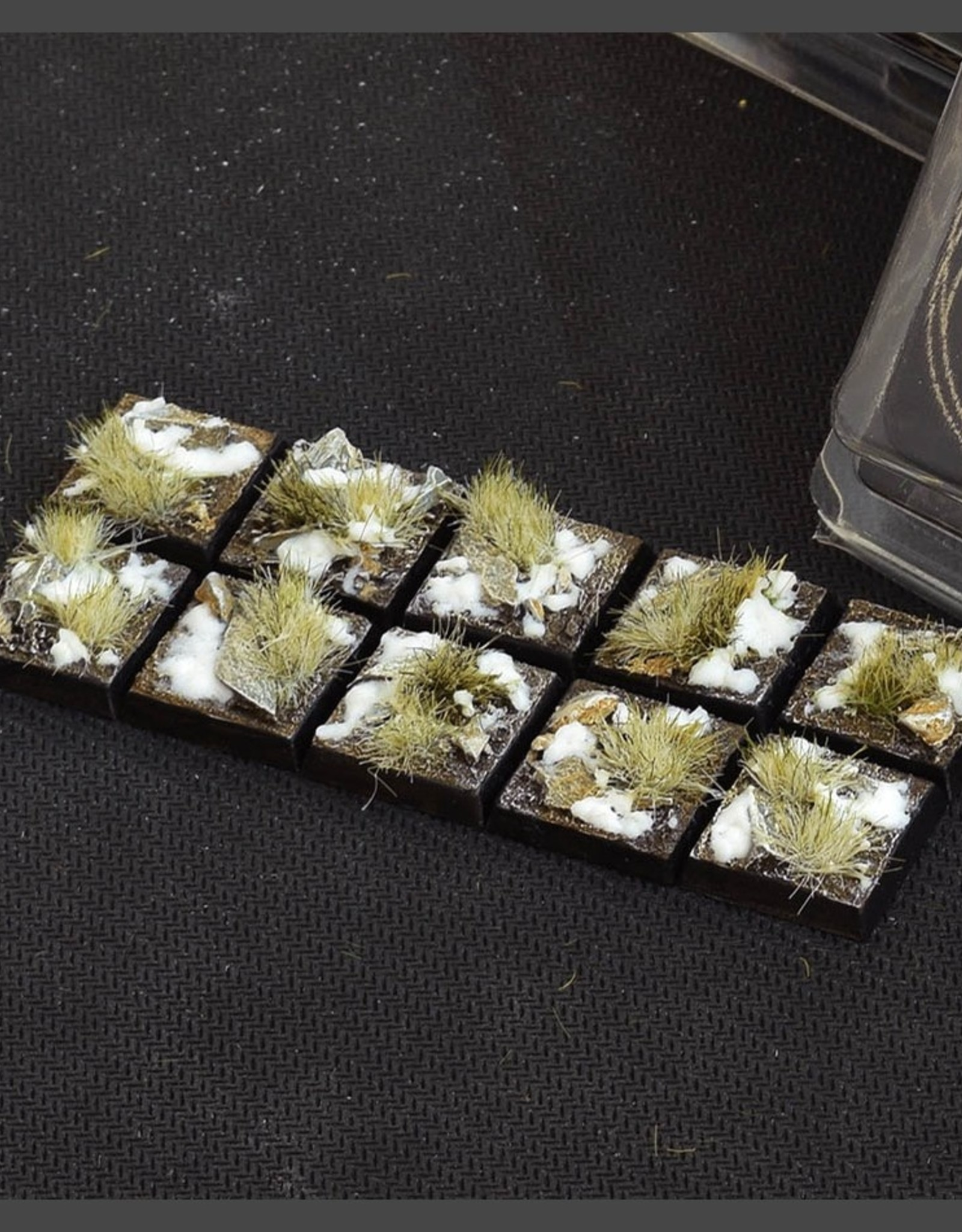 Gamers Grass Winter Bases Pre-Painted (10x 20mm Square)